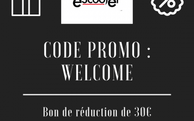 "Promo code ""WELCOME"""